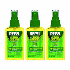 Repel Lemon Eucalyptus 4oz Natural Insect Repellent Pump Spray DEET-Free 3-Pack