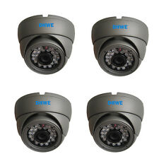 4 x CCTV Dome Camera CMOS 960H 800TVL High Resolution 20M Infrared Vandalproof