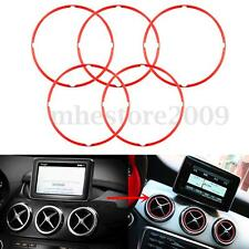 5pcs Red Air Vent Outlet Ring Cover For Mercedes Benz GLA CLA180 200 220 260
