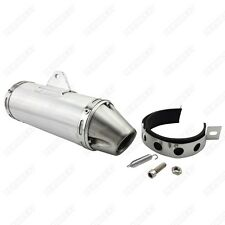 PitBike 38mm Stainless Steel Exhaust Muffler T4 Style For Pit Dirt Bike ATV Quad