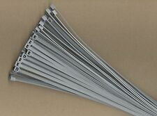"100 8"" Inch Long 40# Pound GRAY GREY Nylon Cable Zip Ties Ty Wraps MADE IN USA"