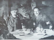 DECEMBER 1914 BRITISH OFFICERS IN DUG-OUT WW1 WWI
