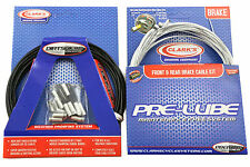 MTB BRAKE CABLE KIT CLARKS BRAIDED SILVER PRE LUBE FULL SET DIRTSHIELD