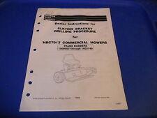 Honda Drilling Procedure SLK7000 Bracket HRC7013 Commercial Mowers