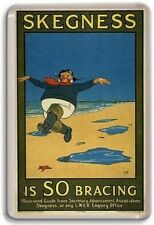 Skegness Is So Bracing, Jolly Fisher Man Novelty Fridge Magnet RETRO