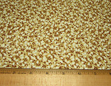 1 yd BROWN n GOLD HOLLY 100% Cotton Fabric WINDHAM PAPER DOLL CHRISTMAS #30863