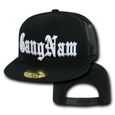 Black Gangnam Style Oppa Psy K-Pop Baseball Flat Bill Snapback Snap Back Cap Hat
