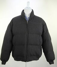 *POLO * Ralph Lauren Charcoal Gray Wool Puffer Down Feather Jacket~ Large