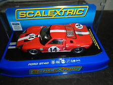 Scalextric C3630 Ford Gt40 1966 Le Mans #14 lights& DPR  m/b