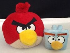 "ANGRY BIRDS LOT 6"" Red & 3"" Blue Square Bird Stuffed Plush Good Stuff Toys"