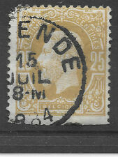 lovely old Belgium stamp - issued around 1869 looks to be posted 15th July 1884