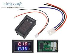 Panel Mount Volt & Amp Meter - (0-100VDC & 0-10A) For Arduino, Car