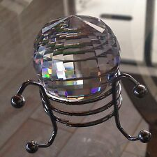 40mm  Austrian Crystal Disco Ball Prism 240 facets w/ Display Stand Rainbows!!