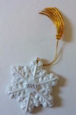 Vintage 1983 Avon Christmas Remembrance White Porcelain Snowflake Ornament