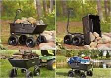 Garden Carts And Wagons Big Wheels Utility Wagon Cargo Tractor Hauling Trailer
