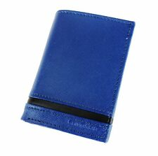 NEW CALVIN KLEIN BLUE LEATHER BILLFOLD ID CREDIT CARD MEN'S WALLET KEY FOB 79487