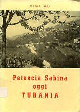 Mario Iori = PETESCIA SABINA OGGI TURANIA dedica a.