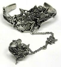 Fairy Slave Bracelet & Ring - Lead Free Pewter - Adjustable - Fits Most - New
