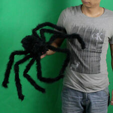 Black Spider Halloween Decoration Haunted House Prop Indoor Outdoor Wide NEW