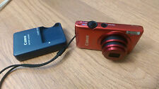 Canon PowerShot ELPH 300 HS 12.1 MP Digital Camera Red w/ Charger