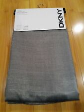 NEW DKNY Gray UPTOWN LOFT Faux Leather Lining Window Curtain Panels 50x96 PAIR
