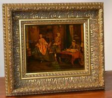 Gilt Framed Glass Picture by Jenny Simpson 'Lancret The Avaricious Wife' [P2516]
