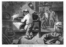 DESCAMPS Kitchen of the Monkeys - Antique Print 1860