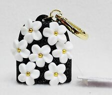 Bath Body Works DAISIES Black Gold Glitter Pocketbac Holder Clip Case Sanitizer