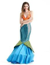 Woman Mermaid Costume Fairy Tale Long Dress Halloween Carnival Party Dress Sexy