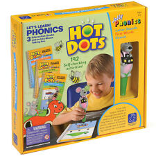 Hot Dots Jolly Phonics Starter Set - Pen/3 Books for Letter Sounds & First Words
