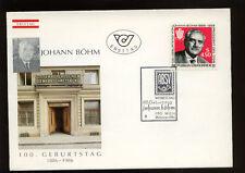 Austria 1986 Johann Bohm FDC #378