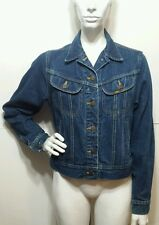 Vintage Lee Riders Jean Jacket True Blue Denim Trucker Work Coat Women's Medium