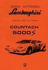 LAMBORGHINI Countach 5000S Parts Manual Book Catalogue Paper car