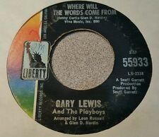 Gary Lewis And The Playboys – Where Will The Words Come From