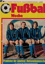Fußball Woche 11/1974,Bundesliga,BAYER UERDINGEN POSTER,WM Pokale