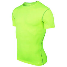 Mens Boy Sports Athletic Tops Base Layer Short Sleeve T-Shirts Compression Shirt