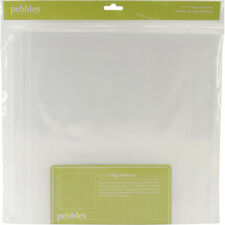 "Pebbles Share & Tell Page Protectors 12""X12"" 20/Pkg-(1) 12""X12"" Pocket"
