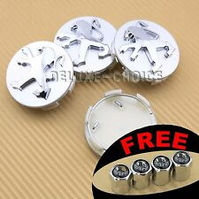 4 CAR WHEEL CENTER HUB CAP BADGE 60MM FOR PEUGEOT 106,204,206,207,306,307 SILVER