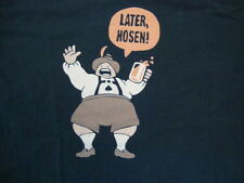 Germany Beer Oktoberfest Later Hosen Tourist Souvenir Navy Blue T Shirt Size M