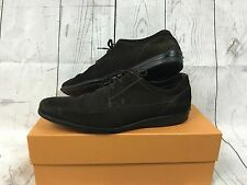 Mens TOD'S Suede Casual Lace Up Shoes - UK10 - Brown - With Box