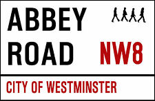 LONDON METAL STREET SIGN 28 x 19cm. INSIDE OR OUTSIDE USE.ABBEY ROAD THE BEATLES