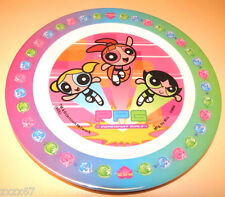 NEW  POWERPUFF GIRLS SERVING MELAMINE PLATE PARTY SUPPLIES DECORATIONS