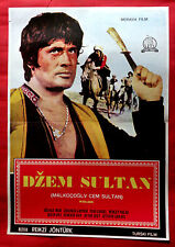 MALKOCOGLU CEM SULTAN 69 TURKISH HERO GULNAZ HURI CUNEYT ARKIN EXYU MOVIE POSTER