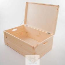 Plain in legno di pino naturale petto, bagagliaio, Coperta, vestiti, memoria Storage Box sd260