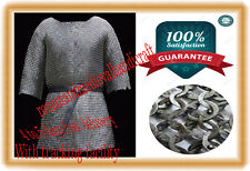 FLAT-RIVETED-CHAINMAIL-SHIRT-HUBERGION-XLARGE-10-MM-MS-RING-WITH-WASHER