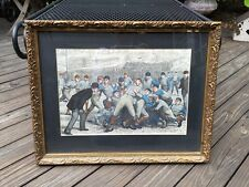 Vintage Print  Yale vs Princeton Football Color Print by A. B. Frost