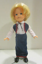"""Vint 1983 TOMY vinyl & HP 17"""" Kimberly -closed mouth - orig clothes -clean - VGC"""