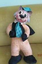 Vintage Cat Rubber Face Plush Toy Mid Century Character Toy Cat Rare Toy Cat