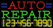 """NEW """"AUTO REPAIR"""" 32x17x1 w/YOUR PHONE NUMBER SOLID/FLASHING LED SIGN 25042"""