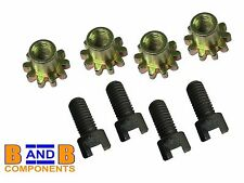 VW T1 BEETLE BUG FRONT OR REAR BRAKE SHOE ADJUSTERS SCREWS + STAR x 4 A846